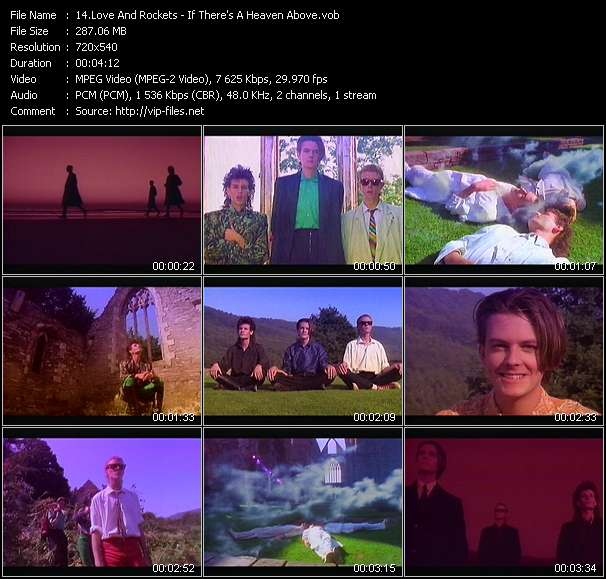 Screenshot of Music Video Love And Rockets - If There's A Heaven Above