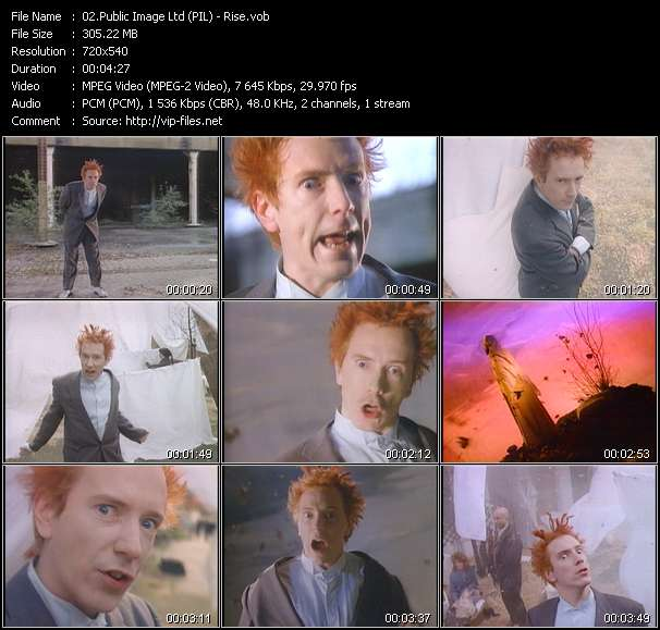 Public Image Ltd (PIL) video vob