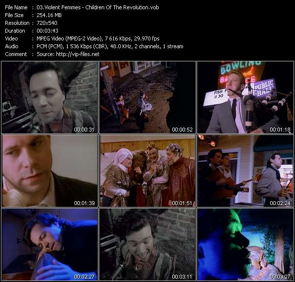 Screenshot of Music Video Violent Femmes - Children Of The Revolution