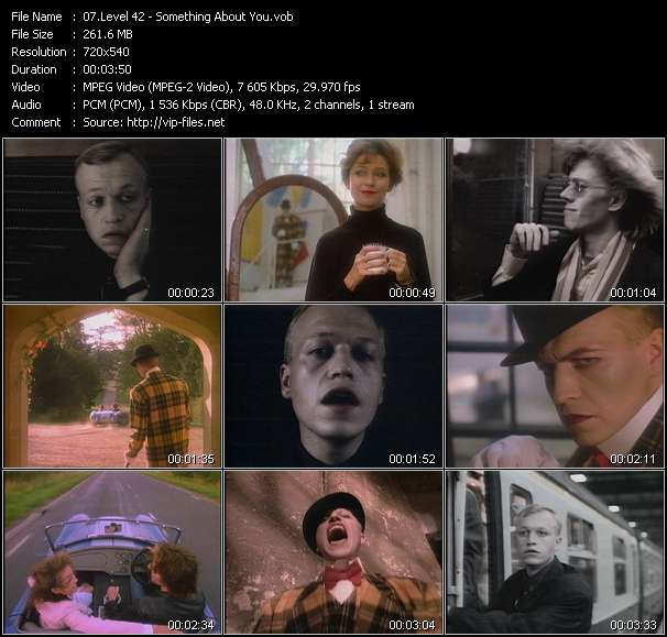 Screenshot of Music Video Level 42 - Something About You