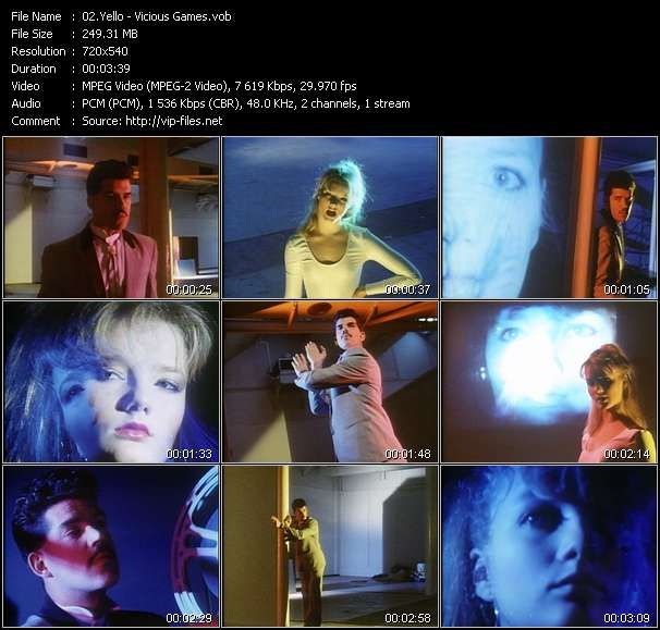 Screenshot of Music Video Yello - Vicious Games