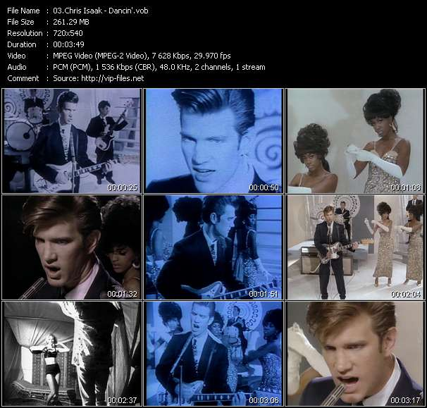 Screenshot of Music Video Chris Isaak - Dancin'