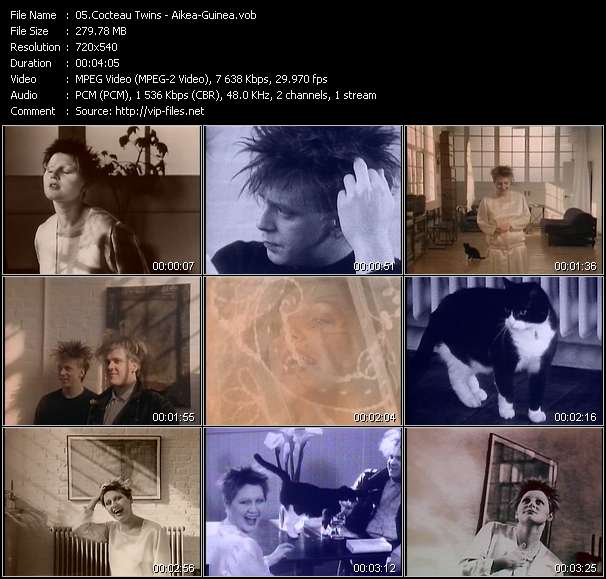 Screenshot of Music Video Cocteau Twins - Aikea-Guinea