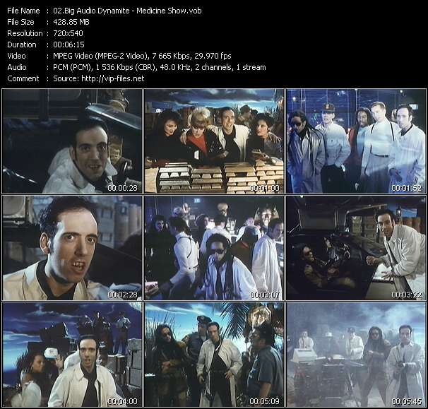 Screenshot of Music Video Big Audio Dynamite - Medicine Show