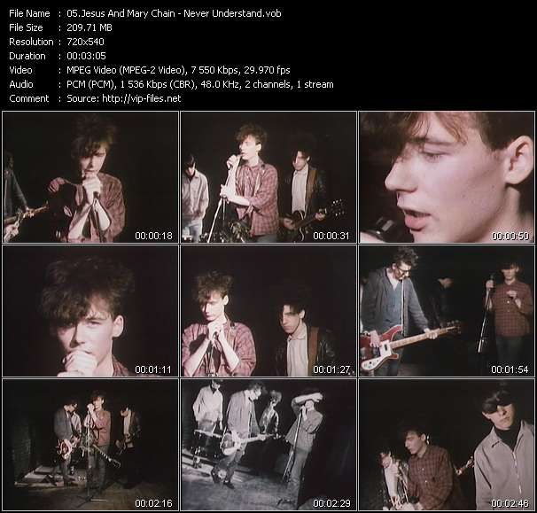 Screenshot of Music Video Jesus And Mary Chain - Never Understand