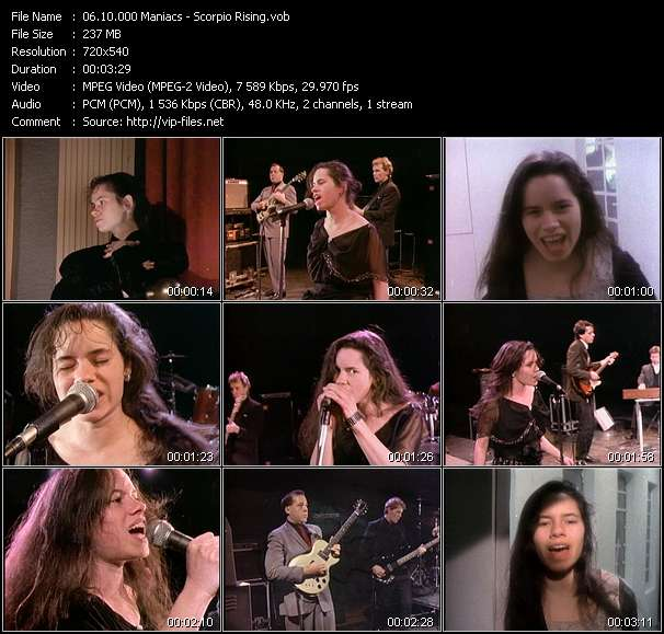 Screenshot of Music Video 10.000 Maniacs - Scorpio Rising
