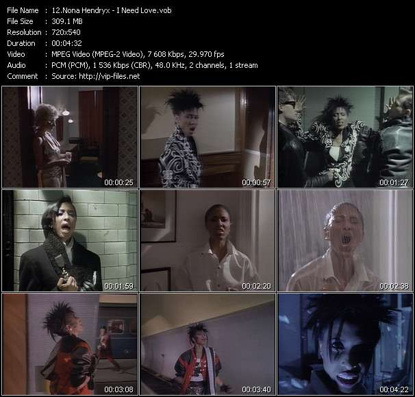 Screenshot of Music Video Nona Hendryx - I Need Love