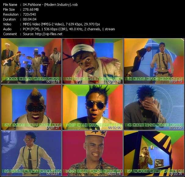 Screenshot of Music Video Fishbone - ? (Modern Industry)