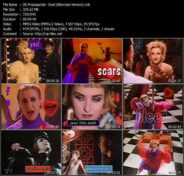 Screenshot of Music Video Propaganda - Duel (Alternate Version)