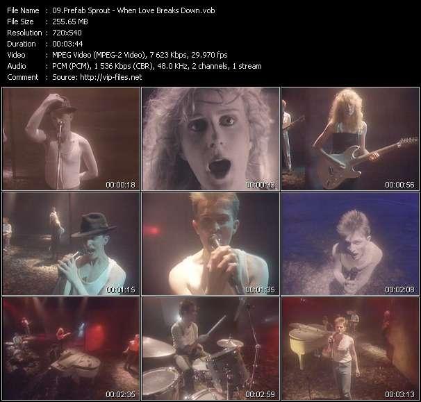 Screenshot of Music Video Prefab Sprout - When Love Breaks Down