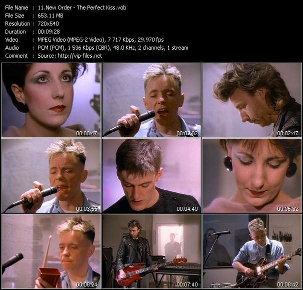 Screenshot of Music Video New Order - The Perfect Kiss