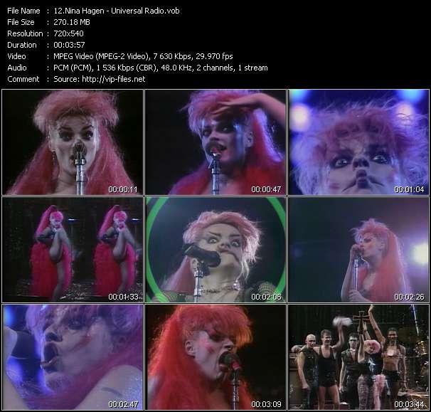 Screenshot of Music Video Nina Hagen - Universal Radio