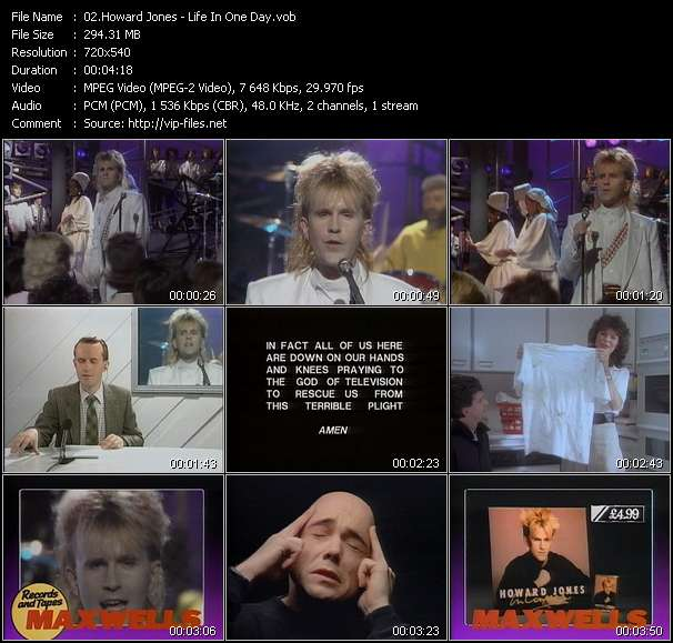Howard Jones video vob