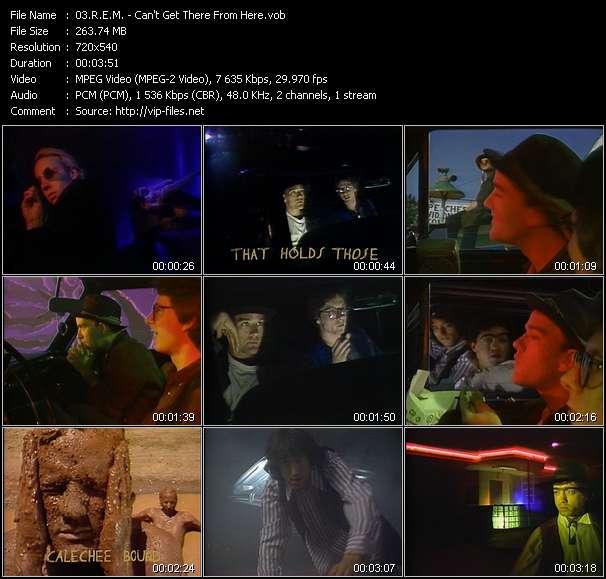 R.E.M. clips musicaux vob