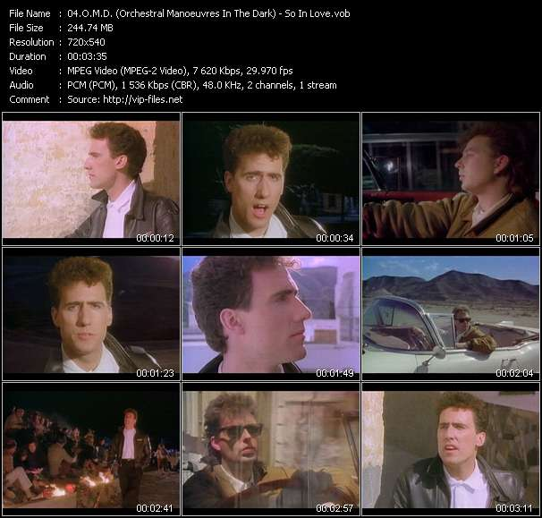 O.M.D. (Orchestral Manoeuvres In The Dark) video vob