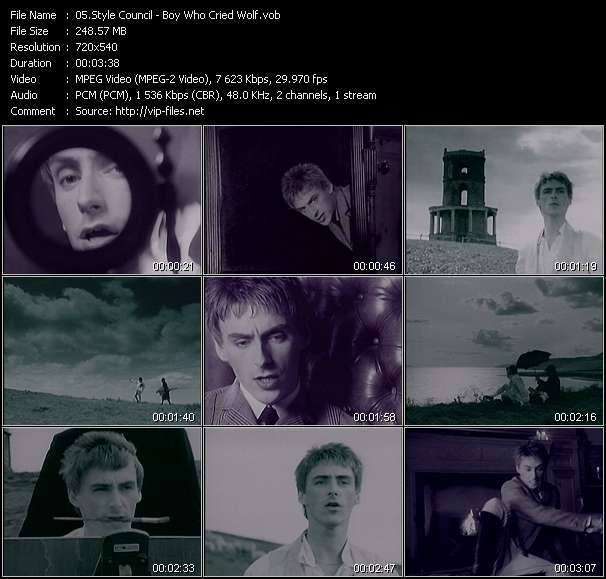 Screenshot of Music Video Style Council - Boy Who Cried Wolf