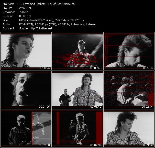 Screenshot of Music Video Love And Rockets - Ball Of Confusion