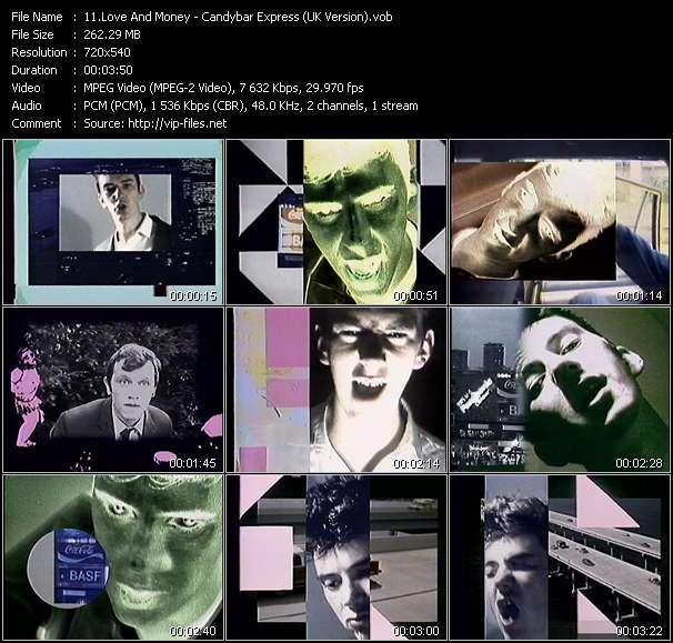 Screenshot of Music Video Love And Money - Candybar Express (UK Version)