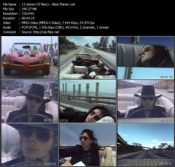 Screenshot of Music Video Sisters Of Mercy - Black Planet