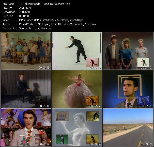 Screenshot of Music Video Talking Heads - Road To Nowhere