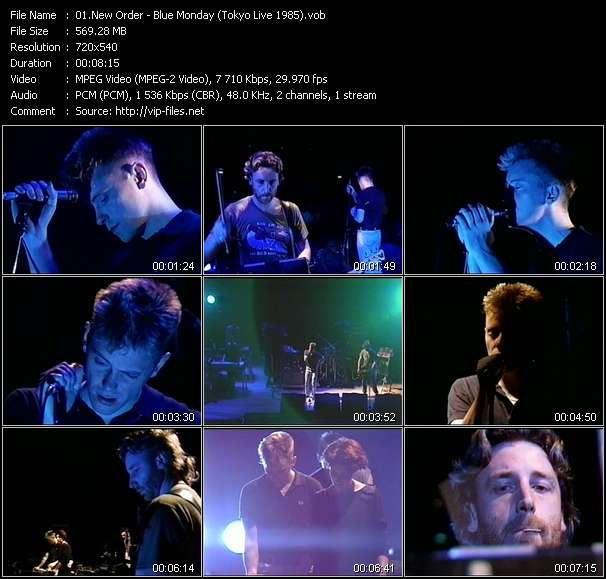Screenshot of Music Video New Order - Blue Monday (Tokyo Live 1985)
