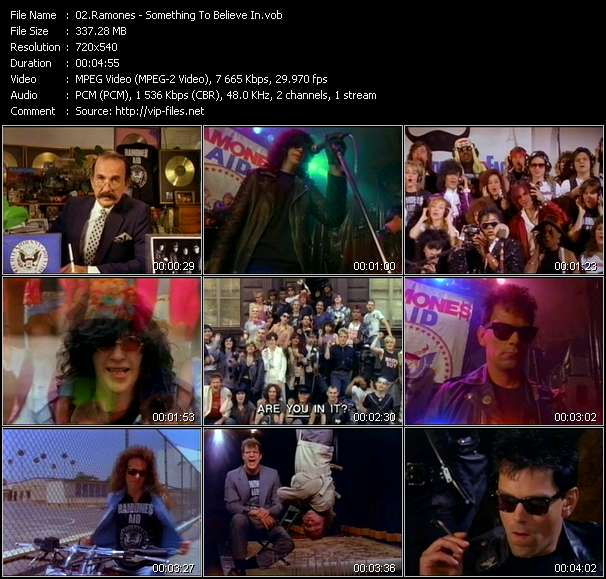 Screenshot of Music Video Ramones - Something To Believe In