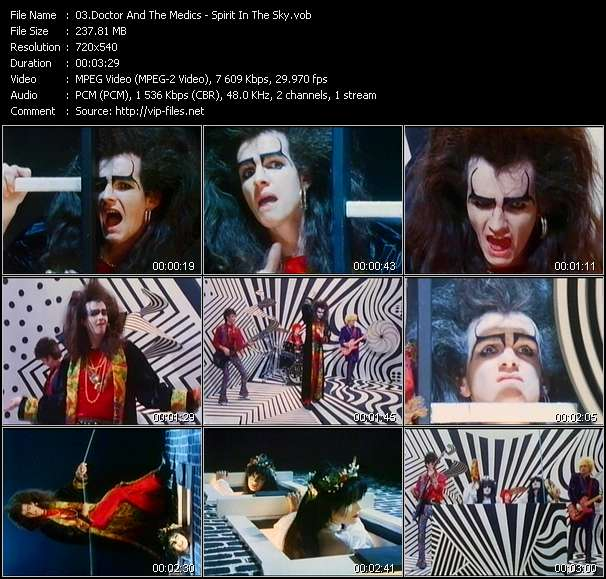 Screenshot of Music Video Doctor And The Medics - Spirit In The Sky