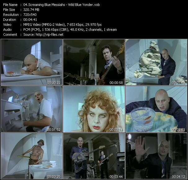 Screenshot of Music Video Screaming Blue Messiahs - Wild Blue Yonder