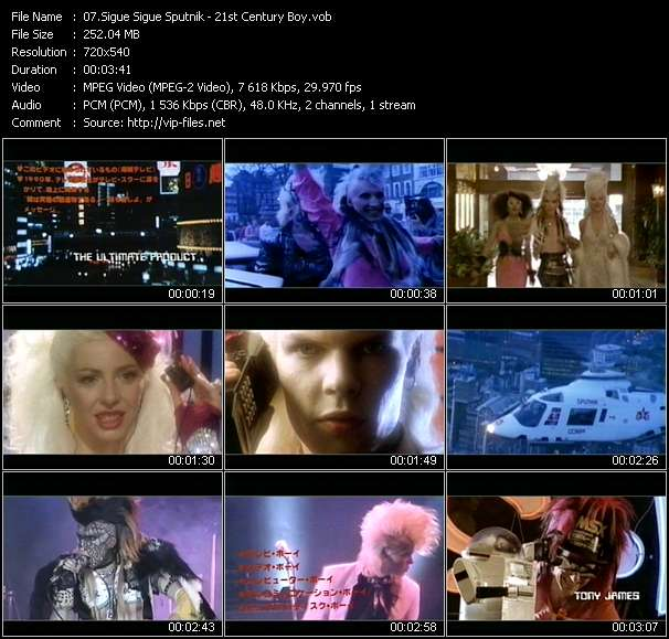 Screenshot of Music Video Sigue Sigue Sputnik - 21st Century Boy