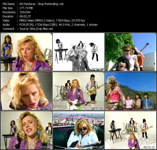 Screenshot of Music Video Pandoras - Stop Pretending