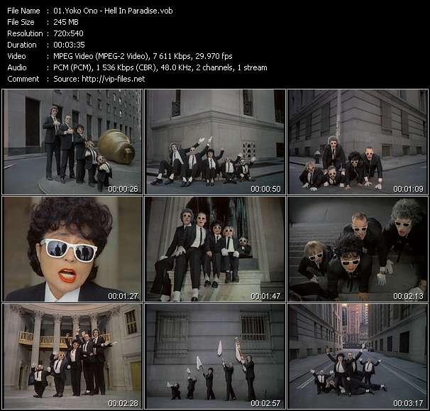 Screenshot of Music Video Yoko Ono - Hell In Paradise