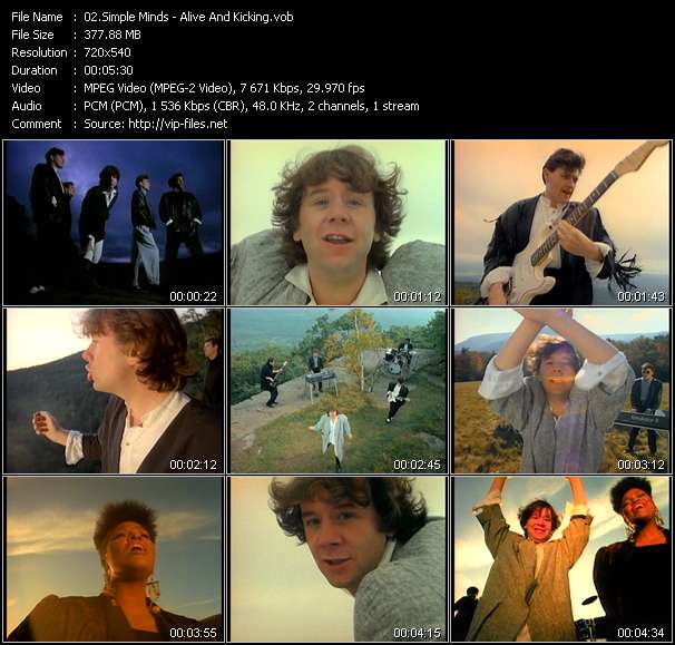Screenshot of Music Video Simple Minds - Alive And Kicking
