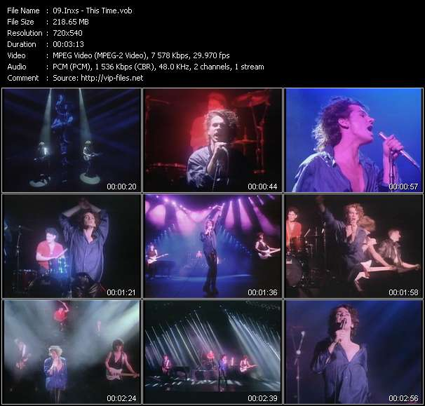Screenshot of Music Video Inxs - This Time