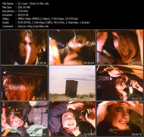 Screenshot of Music Video Cure - Close To Me