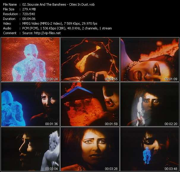 Screenshot of Music Video Siouxsie And The Banshees - Cities In Dust