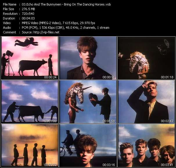 Screenshot of Music Video Echo And The Bunnymen - Bring On The Dancing Horses