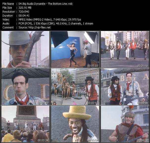 Screenshot of Music Video Big Audio Dynamite - The Bottom Line