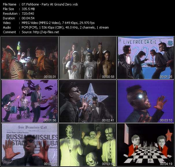 Screenshot of Music Video Fishbone - Party At Ground Zero