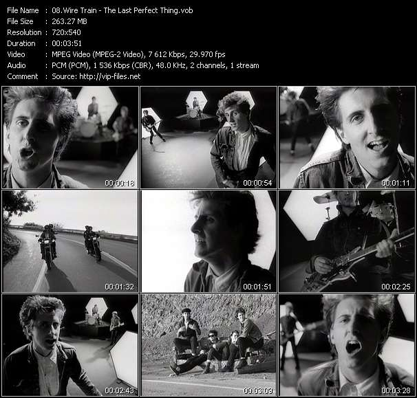 Screenshot of Music Video Wire Train - The Last Perfect Thing
