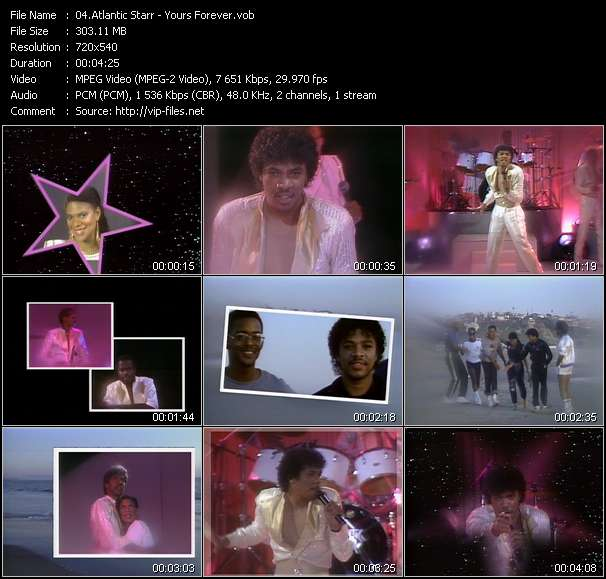 Screenshot of Music Video Atlantic Starr - Yours Forever