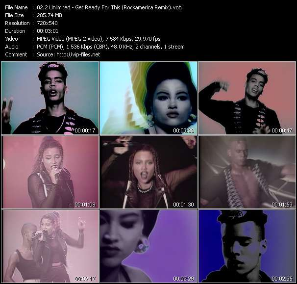 Screenshot of Music Video 2 Unlimited - Get Ready For This (Rockamerica Remix)