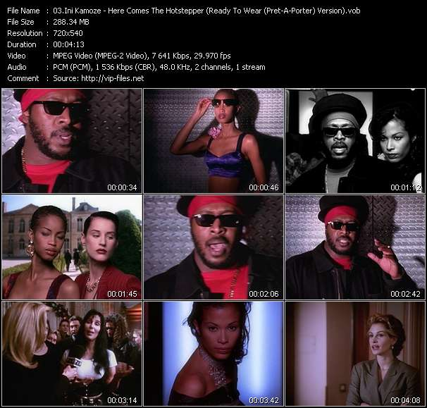 Screenshot of Music Video Ini Kamoze - Here Comes The Hotstepper (Ready To Wear (Pret-A-Porter) Version)