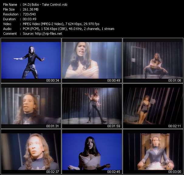 Screenshot of Music Video Dj Bobo - Take Control