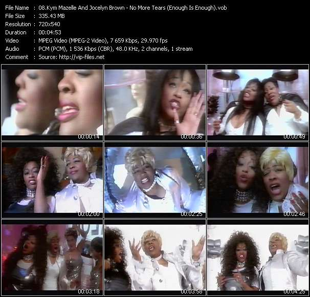 Screenshot of Music Video Kym Mazelle And Jocelyn Brown - No More Tears (Enough Is Enough)