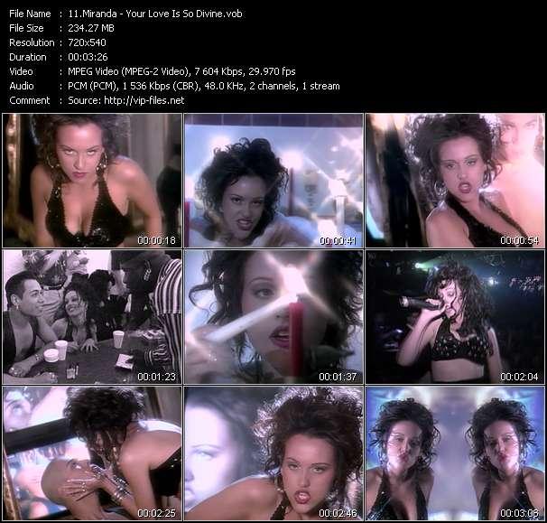 Screenshot of Music Video Miranda - Your Love Is So Divine