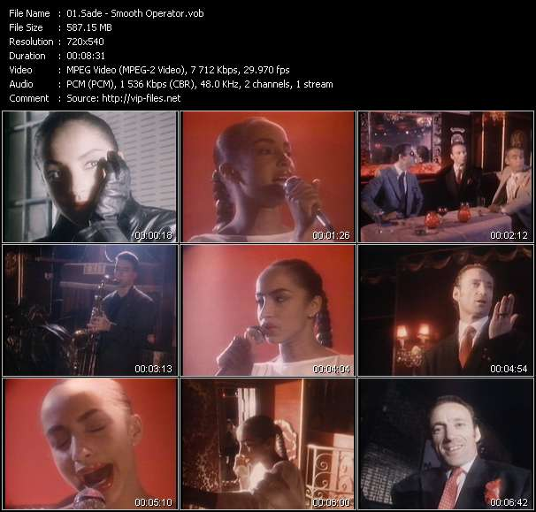 Screenshot of Music Video Sade - Smooth Operator