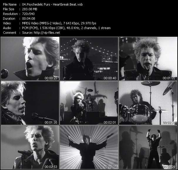 Screenshot of Music Video Psychedelic Furs - Heartbreak Beat