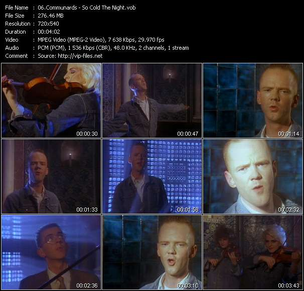Screenshot of Music Video Communards - So Cold The Night