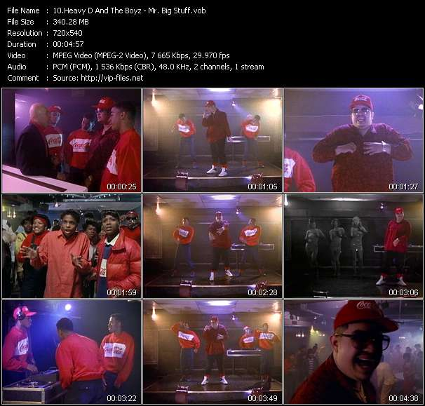 Screenshot of Music Video Heavy D And The Boyz - Mr. Big Stuff