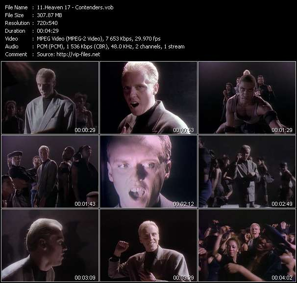 Screenshot of Music Video Heaven 17 - Contenders